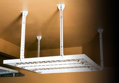 Diy metal overhead storage racks by slide lok of colorado springs garage overhead storage solutioingenieria Gallery